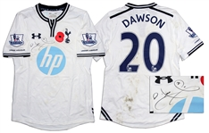 Michael Dawson Match-Worn & Signed Shirt From Tottenham Hotspur