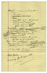Richard Nixon Handwritten Notes on Education & Civil Rights -- ...Teacher relations are disgraceful...pay, prestige...Civil Rights...Northern as well as South problem...