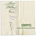 2 Live Crew Signed Napkin Including Deceased Kid Ice