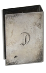 Marlene Dietrich Personally Owned Monogrammed D Silver-Plated Match Box