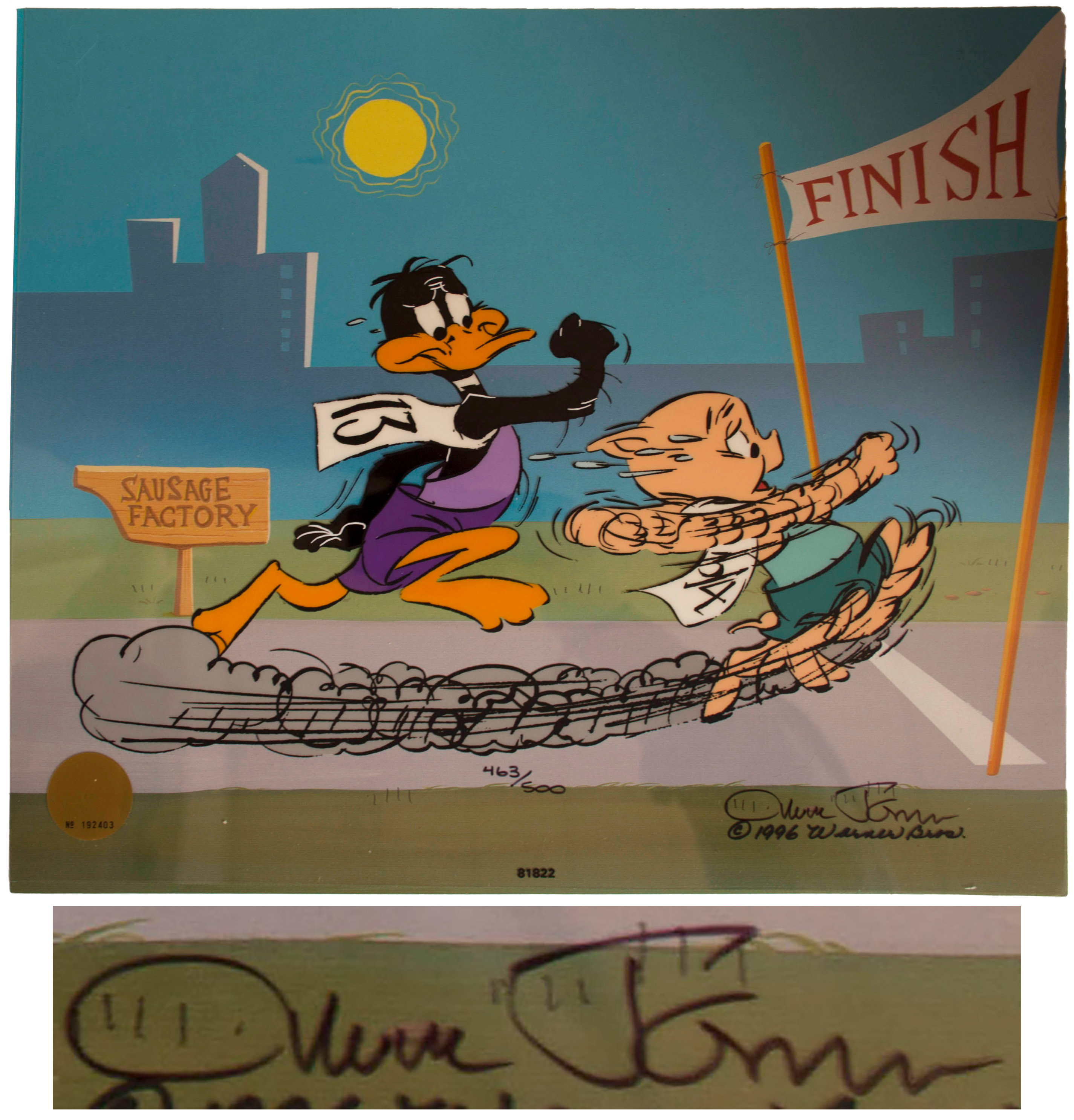 Lot Detail - Chuck Jones Signed Limited Edition Hand-Painted