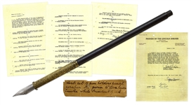Abraham Lincoln Personally Used Pen, Owned by Lincoln as President During the Civil War -- With a COA From University Archives
