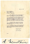 "Albert Einstein Letter Signed During WWII -- ""…The power of resistance which has enabled the Jewish people to survive…our readiness to help one another is being put to an especially severe test…"""