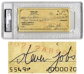 Steve Jobs Check Signed From 1988 -- Jobs Handwrites a Check for $2,000 to His Girlfriend Tina Redse -- Authenticated & Slabbed by PSA/DNA