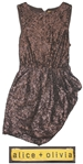Sheryl Crow Personally Owned Brown Sequined Party Dress by Alice + Olivia
