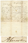 Abraham Lincoln Autograph Letter Signed From 1857 as a Lawyer in Springfield, Illinois on a Land Fraud Case -- ...I was greatly vexed...