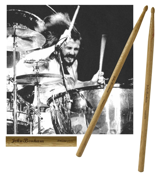 John Bonham's Custom-Made Drum Sticks Used by Bonham in the mid-1970s with Led Zeppelin