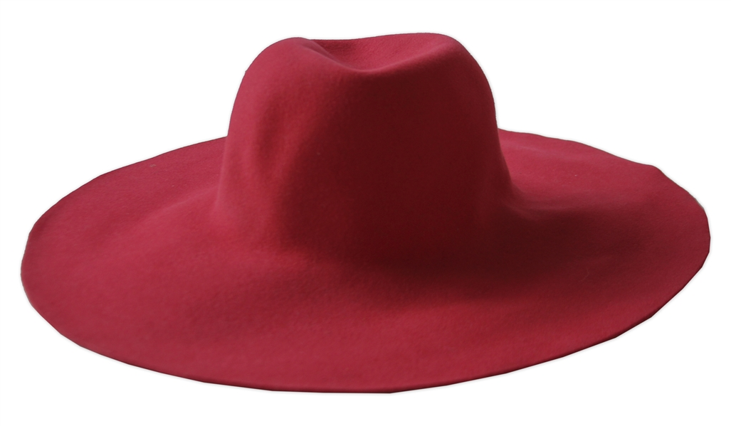 Alicia Keys Worn Jennifer Scott Red Floppy Hat -- With a COA From the Singer