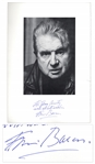 Artist Francis Bacon Signed Book Page With His Photo -- His Three Studies of Lucien Freud is The Most Expensive Painting Ever Sold at Auction