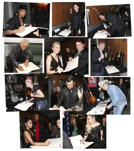Grammy Signature Book From the 2015 Award Show -- Signed by 71 Celebrities Including Paul McCartney, Madonna, Katy Perry, Miley Cyrus, Lady Gaga, Adam Levine, Tony Bennett & More