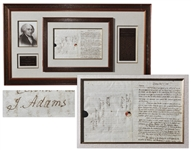 John Adams Autograph Letter Signed & Franking Signature During War of 1812: ...It is of no other use to ruminate upon the faults, Errors & blunders of Washington in the revolutionary War...