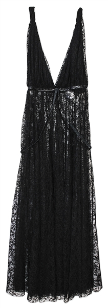 Kim Kardashian Owned Black Lace Gown