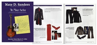 Prince Auction Catalog Featuring His Stage-Worn Outfits, Wedding China, Engagement Note, Handwritten Lyrics & More