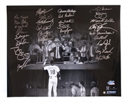 1986 Mets Team-Signed 20 x 16 Photo -- With Steiner COA
