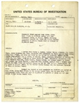 Original Bonnie & Clyde Document From 1934 -- U.S. Bureau of Investigation Report on the Bonnie & Clyde Harboring Fugitives Trial