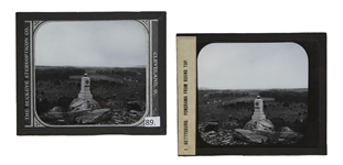 Civil War Magic Lantern Slide -- Gettysburg at Little Round Top