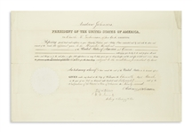 Andrew Johnson Document Signed as President -- Diplomatic Appointment to Greece
