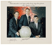 Apollo 13 Large 14 x 11 Color Photo, Crew-Signed on the Presentation Mat & Inscribed by Jack Swigert to Houston Oilers Owner Bud Adams