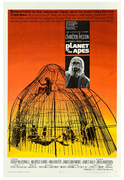 Fantastic One Sheet Poster From 1968 for ''Planet of the Apes''