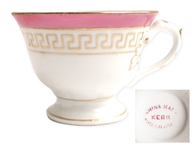 White House China Cup From the Personal Collection of Mary Todd Lincoln -- With L Monogram
