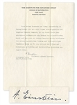 Albert Einstein Signed Letter of Recommendation for Composer Walter Kaufmann