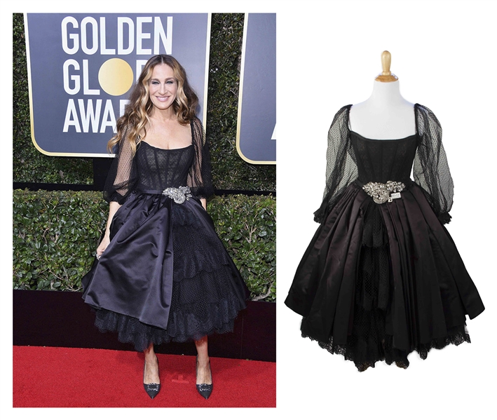 Sarah Jessica Parker's Dolce & Gabbana Gown Worn at the 75th Golden Globe Awards in 2018 -- Black Gown Sold to Benefit ''TIME'S UP''