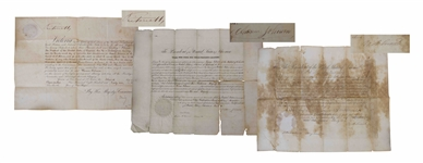 Lot of Signed Documents by Presidents Ulysses S. Grant, Andrew Johnson & Queen Victoria