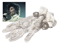Prince Worn Lace Glove From His Purple Rain Concert in 1984