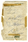 The Beatles Autographs, Signed by John Lennon, Paul McCartney & Ringo Starr -- With Roger Epperson COA