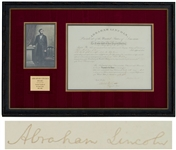 Abraham Lincoln Document Signed as President -- With Full Abraham Lincoln Signature, Lincoln Appoints a Register to the Kansas Land Office at the Start of the Civil War -- With PSA/DNA COA
