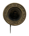 Abraham Lincoln Campaign Button With a Ferrotype of the President -- From the 1864 Presidential Campaign in the Rarer Pinback Format