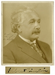 Albert Einstein Signed 8 x 10 Photo