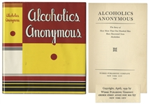 First Edition, First Printing of Alcoholics Anonymous Big Book -- One of Less Than 2,000 Copies, in Original First Printing Dust Jacket