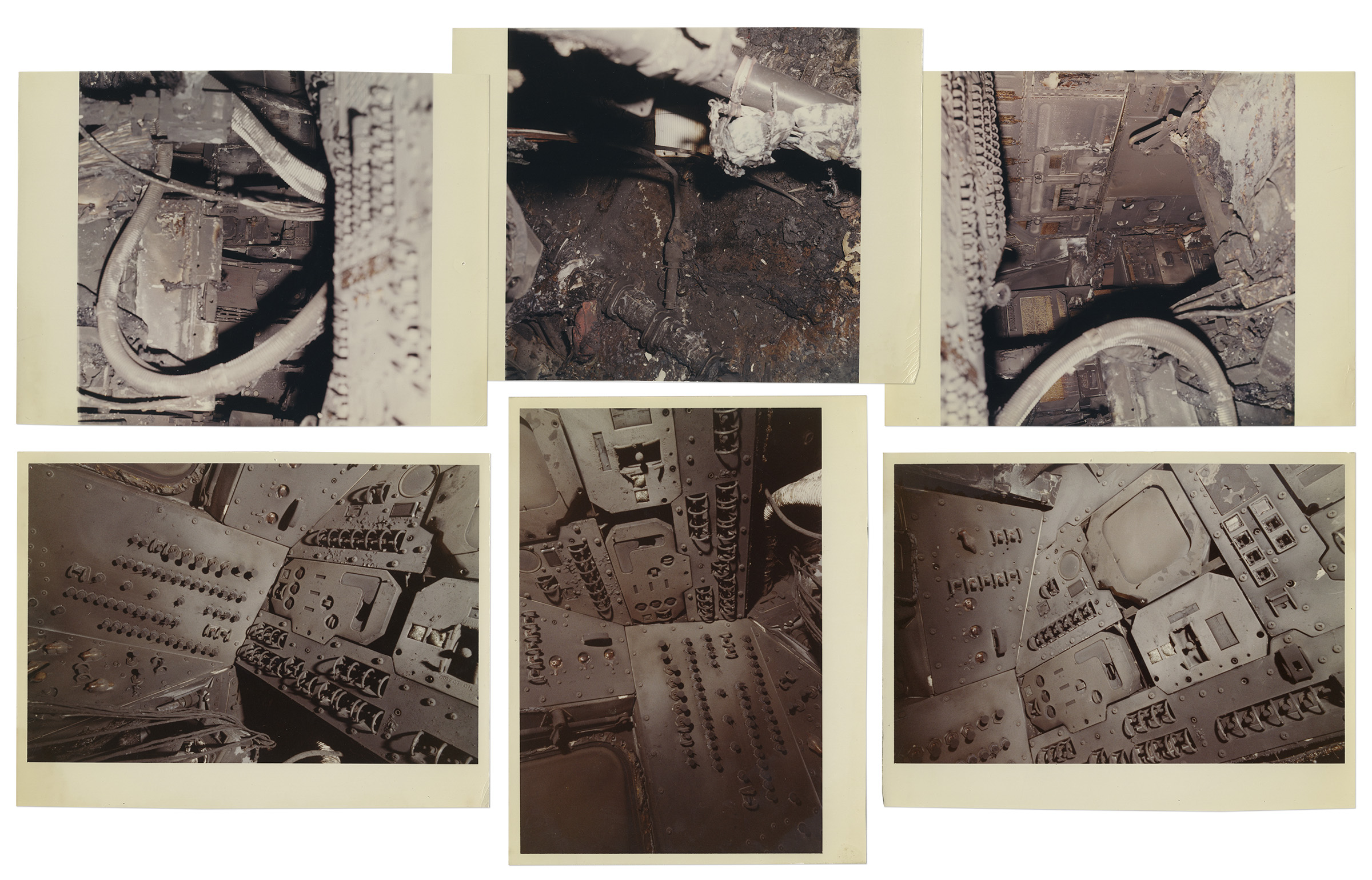Lot Detail - Apollo 1 Fire Investigation Photos -- Forty-One 8'' x