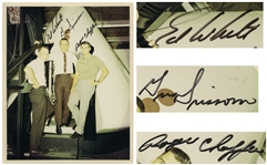 Apollo 1 Signed 8 x 10 Photo by Ed White, Gus Grissom and Roger Chaffee