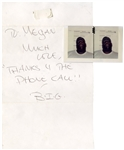 Notorious B.I.G. Signed Note & Mugshots -- Written From Prison in 1995, Very Rare