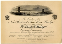 1883 Invitation to the Brooklyn Bridge Opening Ceremonies -- Made by Tiffany & Co.