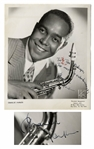 Charlie Parker Rare Signed 8 x 10 Photo -- With Roger Epperson COA