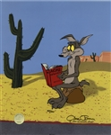 Chuck Jones Signed Limited Edition Hand-Painted Cel of Wile E. Coyote