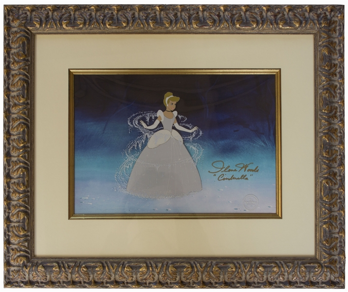 Disney Limited Edition Sericel From ''Cinderella'' -- Signed by the Actress Who Voiced Cinderella in the Original 1950 Film