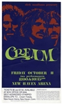 Cream Concert Poster From October 1968 -- From Their Farewell Tour Lasting Only 1 Month