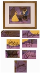 Disney Limited Edition Sericel of Reflection of Love From Beauty and the Beast -- Signed by Seven of the Animators & Directors on the 1991 Academy Award Winning Film