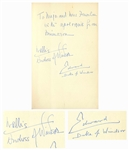 Duke & Duchess of Windsor Signed Lot of Items -- Fun Archive Related to Their Beloved Pet Dog, the Pug Named Minarou