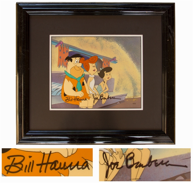 Hanna & Barbera Signed Original Hand-Painted Production Cel for ''The Flintstones''
