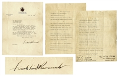 Franklin D. Roosevelt Letter Signed From 1932, Regarding His First Campaign for President