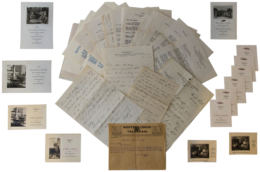 Vast Archive of Franklin D. Roosevelt Letters & White House Correspondence to Helena Mahoney, the Physical Therapist Who Developed the Warm Springs Treatment Center & Helped FDR Overcome Polio