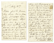 Franklin Pierce Poignant Autograph Letter Signed Regarding the Death of His Son, ...our dear Benny...was called from Earth...I cling to the place where I...exchanged the last words with my noble...