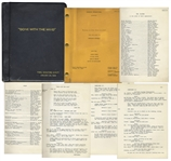 Gone With the Wind Final Shooting Script -- Bound in Navy Blue Leather With Gilt Tooling