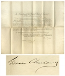 Grover Cleveland Document Signed as President -- Cleveland Appoints a Consul to Germany
