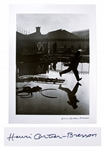 Henri Cartier-Bresson Signed Silver Gelatin Photograph of Behind the Gare Saint-Lazare -- The Decisive Moment of Cartier-Bressons Career